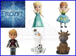 Disney Princess Mini Toddler Doll SETS Belle Cinderella Ariel Tiana Frozen Snow