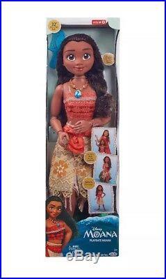 Disney Princess Moana Life Size 32 My Size Doll Poseable Jakks NEW