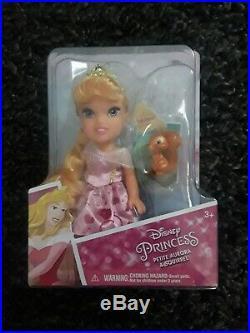 Disney Princess Petite Dolls Lot Of 8 Elsa Anna Moana Ariel Belle Tiana +2 New