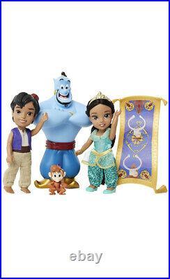 Disney Princess Petite Jasmine And Aladdin Giftset New