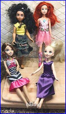 Disney Princess Prince Doll Huge Lot, Zizzle, Pocahontas, Gaston, Frozen, Ariel