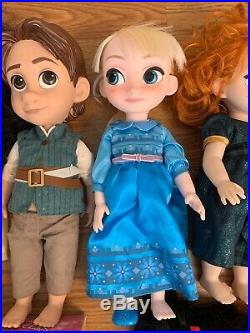 Disney Princess Prince Dolls Huge Lot Animator Plush +