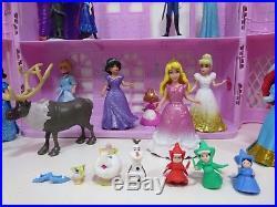 Disney Princess Royal Princess Castle MagiClip Polly Pocket Lot Playset Figures