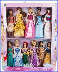 Disney Store 11 Disney Classic Princess 12 Doll Collection Gift Set Barbie size