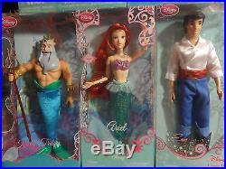 Disney Store 2010 Princess Ariel The Little Mermaid dolls Lot Set NEW