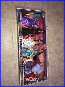 Disney Store Aladdin Deluxe Doll Gift Set Princess Jasmine Jafar Genie Rajah