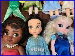 Disney Store Animators Collection 16 Princess Toddler Dolls Lot