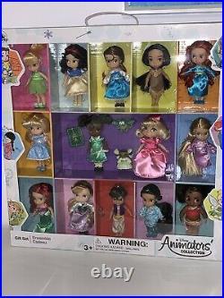 Disney Store Animators' Collection Mini Doll Gift Set 5 Nib 14 Dolls 2019