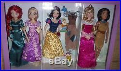 Disney Store Deluxe Princess Classic Dolls Set of 11 Ariel Mulan Merida Tiana