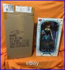 Disney Store Doll Princess Anna Frozen Fever 17 2015 Limited Edition of 5000