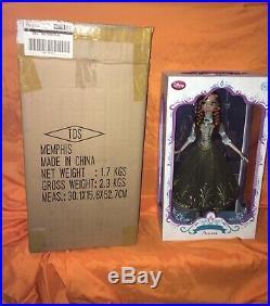 Disney Store Doll Princess Anna Regal 17 Summer 2015 Limited Edition 5000 Green
