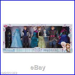 Disney Store FROZEN ELSA ANNA KRISTOFF & HANS DELUXE DOLL GIFT SET FASHION DRESS