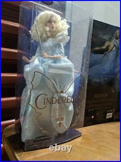Disney Store Film Collection Cinderella Live Action Doll SET RETIRED HTF