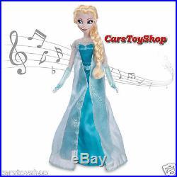 Disney Store Frozen Elsa Anna Singing Doll Toy Princess Musical Sings Lights Up