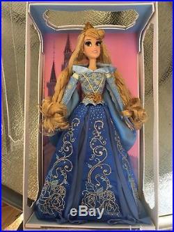 Disney Store Limited Edition 17 Aurora Blue Dress Doll Sleeping Beauty princess