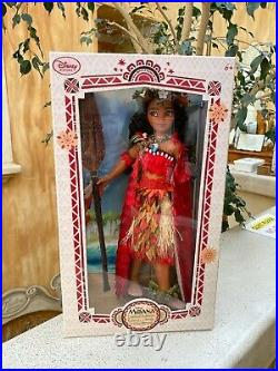 Disney Store Limited Edition 17 Moana Doll 2017 NEW NRFB Princess