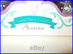 Disney Store Limited Edition Anna Doll Frozen 17''. New