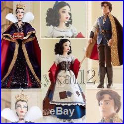 Disney Store Limited Edition Princess Snow White, Evil Queen, Prince 17 Dolls
