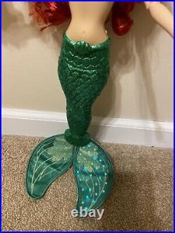 Disney Store Little Mermaid Princess Ariel Deluxe Feature Singing Doll 18 works