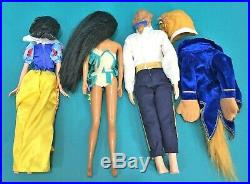 Disney Store Mattel 17 Doll Lot Princess Cinderella Ariel Hans Elsa Barbie Sized