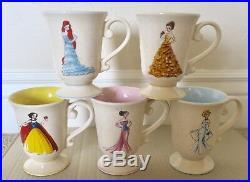 Disney Store Original Designer Doll Mugs Princess Set Of 10 Ariel Belle Rapun