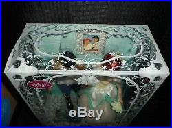 Disney Store Princess Ariel & Prince Eric Once Upon a Wedding First Doll Set New