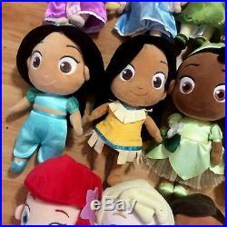 Disney Store Princess Toddler Plush Dolls Doll SET LOT of 14 RETIRED 12 Funko