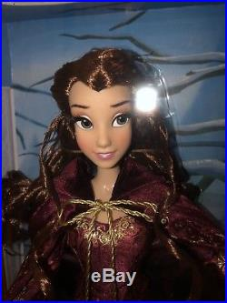 Disney Store Princess Winter Belle 17 Limited Edition LE Doll Beauty New NIB