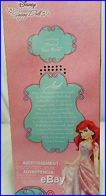 Disney Store Singing Princess Ariel Doll In pink dress 17 Sold Out