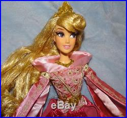 Disney Store Sleeping Beauty PRINCESS AURORA PINK 17 Limited Edition DOLL COA