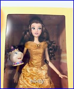 Disney Store Spinning & Lights Belle 16 Doll Singing Potts Beauty & Beast 2016