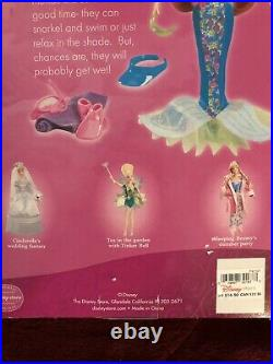 Disney Store Summer Sun Jasmine & RARE Little Mermaid Fun in The Sun Ariel Doll