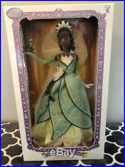 Disney Store TIANA Limited Edition 5000 The PRINCESS AND THE FROG Doll 17 LE
