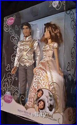 Disney Store Tangled Rapunzel Short Brown Hair and Flynn Rider Wedding Doll Set