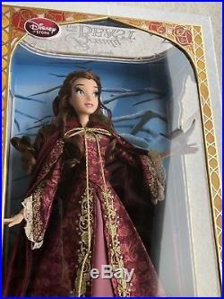 Disney Store Winter Princess Belle Limited Edition Doll Beauty & Beast NIB
