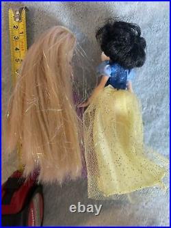 Disney Store rareSet Of Mini Princess Dolls The Ugly Sisters Prince Charming