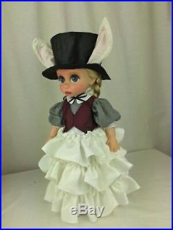 Disney animator doll repainted Rapunzel as Alice in wonderland white rabbit