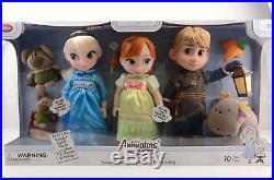 Disney animator set frozen deluxe set anna elsa kristoff dolls