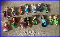 Disney animators collection 15 mini dolls Bundle Set Princess Great Condition