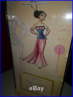 Disney limited edition Designer Princess Mulan Puppe Doll neu new mit Slipcover