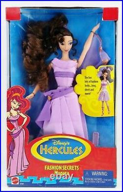 Disney's Hercules Fashion Secrets Megara Doll 1996 Mattel No. 17149 NRFB
