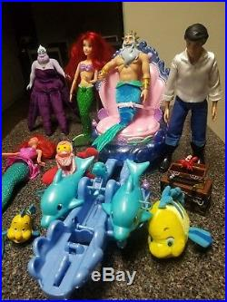 Disney's The Little Mermaid Lot! Comes With The Whole Set! (sea Carriage Too)