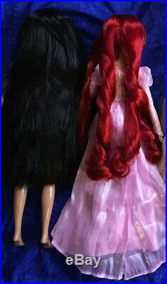 Disney singing dolls 17 LOT of 3 Ariel, Pocahontas, Jasmine + HER ORIGINAL BOX