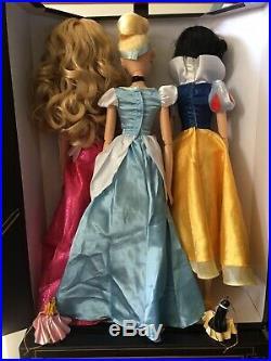 Disney singing dolls 17 LOT of 3 Sleeping Beauty Aurora Cinderella Snow White