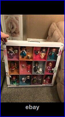 Disney store Animator Princess Collection New Boxed 12 dolls and glitter friends