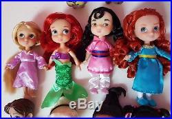 Disney store Mini Animators' Collection Princess Dolls Set Of 12 Figures playset
