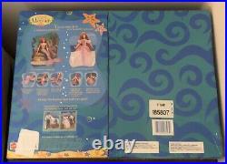 Disneys Princess Mermaid Ariel Gift Set Doll Dress N Play Purple VHTF NRFB