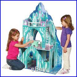 Doll Houses For Toddler Frozen Disney Princess Wooden Girls Ice Castle Mansion