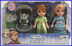 Frozen Petite Toddler Princess Anna Elsa & Surprise Trolls Gift Set Pack