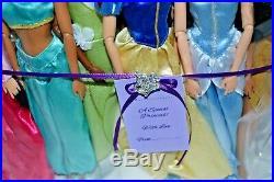 Full Set of 11 Disney Princess Dolls/Rapunzel/Belle/Ariel/Tiana/Mulan/Pocahontas